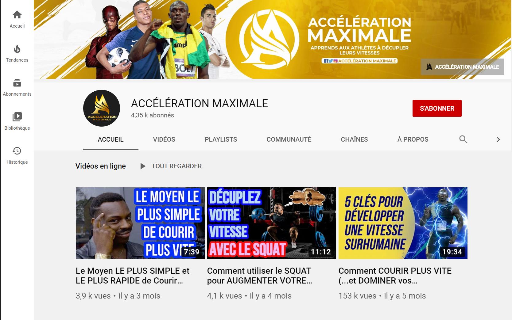 Accélération Maximale: Vidéos